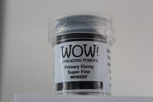 WOW Embossing Pulver Schwarz Super Fine WH00SF