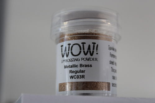 WOW Embossing Pulver Metallic Messing Regular WC03R
